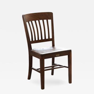 W H Gunlocke Chair Co 1920s Solid Oak Office Chair by W H Gunlocke Chair Co