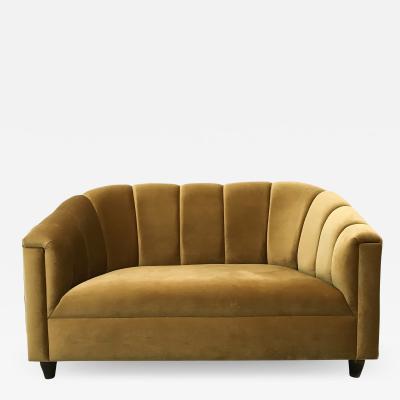 WATT Studio Art Deco LoveSeat Golden Velvet