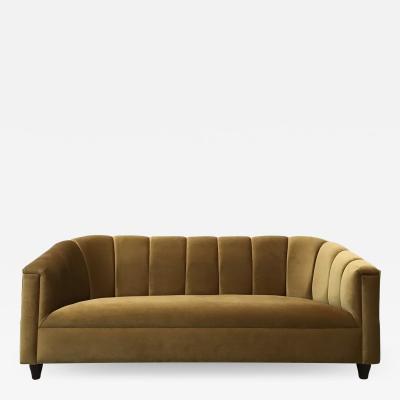 WATT Studio Art Deco Sofa Golden Velvet
