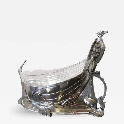 WMF Art Nouveau Silver Eagle Centerpiece by WMF