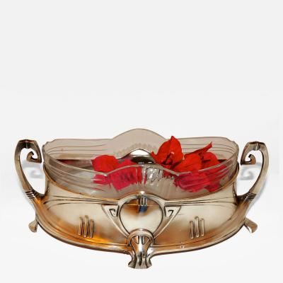 WMF Art Nouveau Silver and Glass Centerpiece by WMF