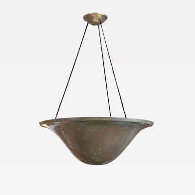 WMF W rttembergische Metallwarenfabrik W M F Art Deco Uplight Chandelier by WMF