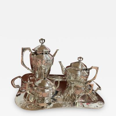 WMF W rttembergische Metallwarenfabrik W M F Art Nouveau Silver Tea and Coffee Set Jugendstil by WMF