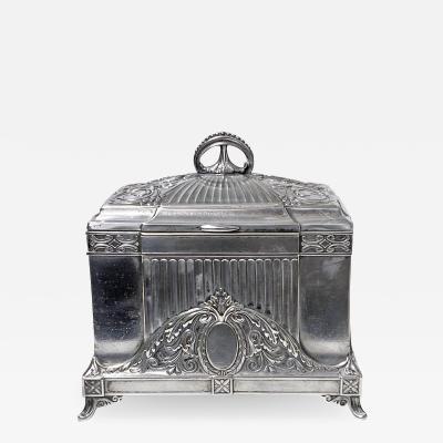 WMF W rttembergische Metallwarenfabrik W M F WMF Jewellery Box Jugendstil Secessionist Silver Plate Germany C 1900