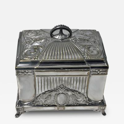 WMF WMF Jugendstil Secessionist Silver Plate Jewelry Box Germany C 1900