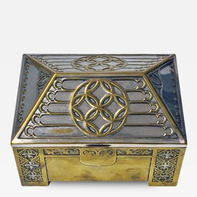 WMF WMF Jugendstil Secessionist Silver and Brass Box Germany C 1906