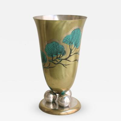 WMF WMF Tall Art Deco Vase in Metal