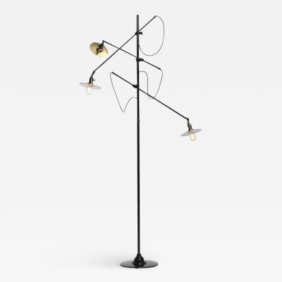 WYETH Adjustable Three Arm O C White Floor Lamp Customized by Wyeth