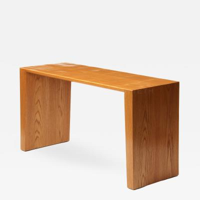WYETH Oak and Split Bamboo Console Table