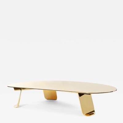 WYETH WYETH POLISHED BRONZE CHRYSALIS LOW TABLE NO 1