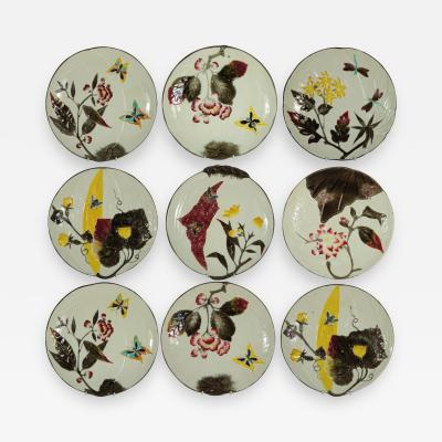 Wedgwood Set of 11 Wedgwood Majolica Bee Butterfly Plates