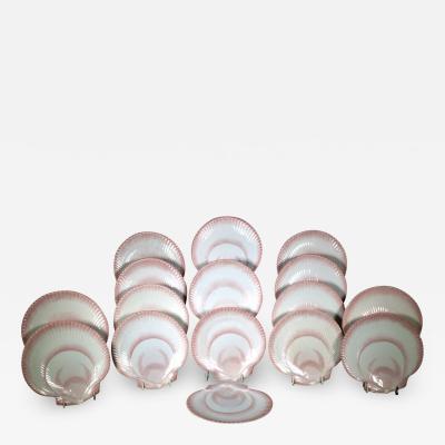 Wedgwood Wedgwood Nautilus Pattern Pearlware Dessert Plates Set of 16 sixteen