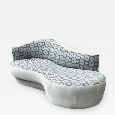 Weiman Mid Century Modern Sculptural Curved Sofa by Weiman