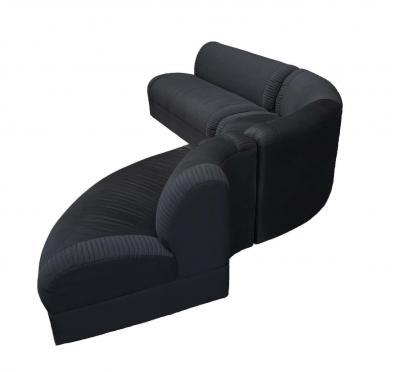 Weiman Mid Century Modern Serpentine Sectional Sofa by Weiman