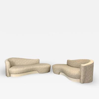 Weiman Sculptural Cloud Sofa a Pair by Weiman