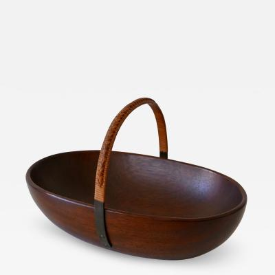 Werkst tte Carl Aub ck Exceptional Mid Century Modern Teak Nut Bowl by Carl Aub ck 1950s Austria