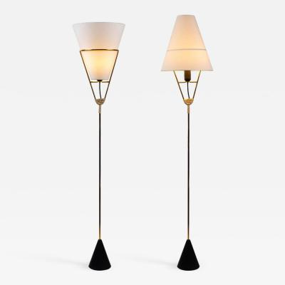 Werkst tte Carl Aub ck Pair of Carl Aubo ck Vice Versa Floor Lamps