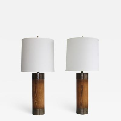 Westwood Industries Westwood Bronze And walnut Large Table Lamps
