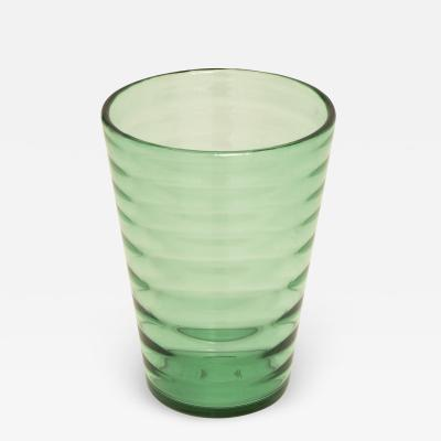 Whitefriars 1960s tall green Whitefriars vase