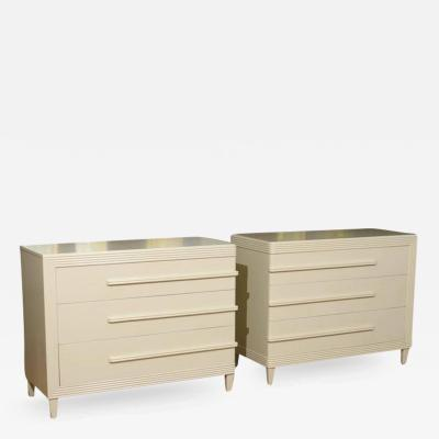 Widdicomb Furniture Co Exceptionally Rare Restored Pair Of Modern Chests By  Widdicomb