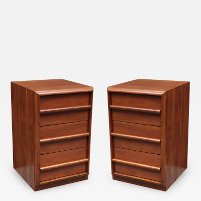 Widdicomb Furniture Co Pair Modernist Three Drawer Cabinets