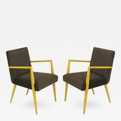 Widdicomb Furniture Co Pair of T H Robsjohn Gibbings for Widdicomb Open Armchairs