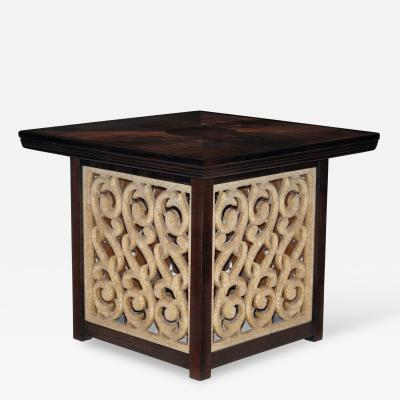 Widdicomb Furniture Co Side Table in Walnut with Resin Decoration by Widdicomb