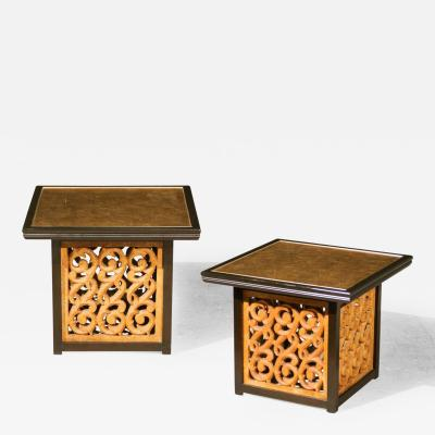 Widdicomb Furniture Co Spectacular Pair Of Mediterranean Style End Or  Coffee Tables By Widdicomb
