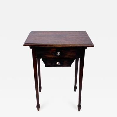 Wiener Werkst tte AUSTRIAN OAK TABLE WITH ENAMELED DRAWER PULLS BY JOSEF HOFFMAN