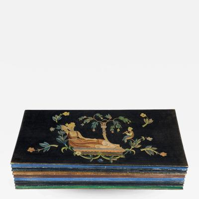 Wiener Werkst tte Irene Schachl Wiener Werkstatte Wooden Cassette 1920