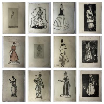 Wiener Werkst tte Mode Wein 1914 15 12 Wiener Werkst tte Fashion Wood Cuts