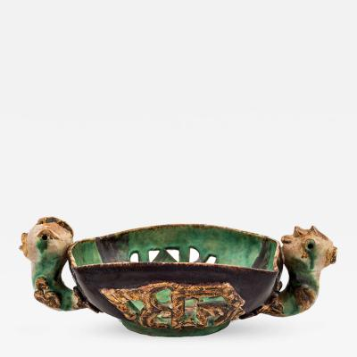 Wiener Werkst tte Vally Wieselthier Grotesque Bowl Animal Headings No 176 Wiener Werkstatte