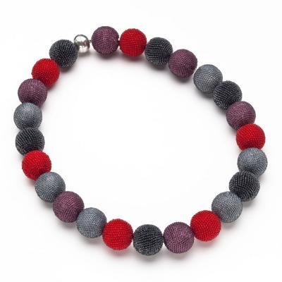 Wiener Werkst tte Wiener Werkstatte Beaded Ball Necklace