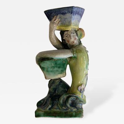 Wiener Werkst tte Wiener Werkstatte Glazed Ceramic Figure by Ena Kopriva