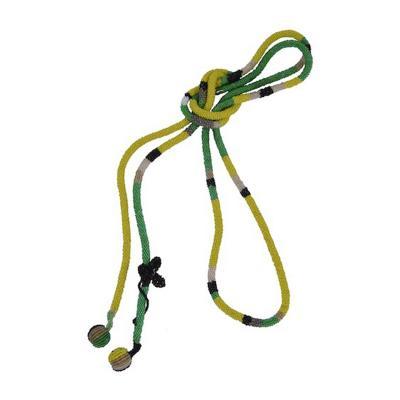 Wiener Werkst tte Wiener Werkstatte Green Yellow Black Necklace with Butterfly