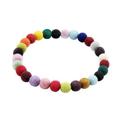 Wiener Werkst tte Wiener Werkstatte Round Beaded Necklace in Colored Beads