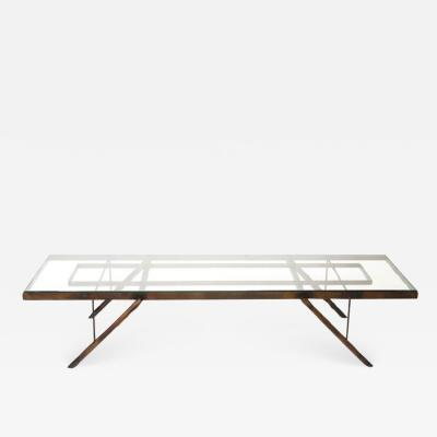 William Haines Inc Iron Coffee Table