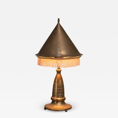 Winkelman Van der Bijl Winkelman Amsterdam School table lamp