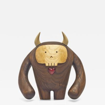 Wooda Hermanos Calavera Jefe in Walnut designed for Wooda by Miguel and Ilse Silva