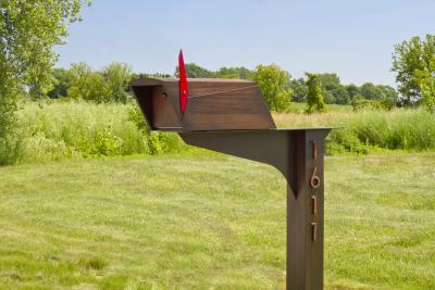 Wooda Postale Mailbox in Mahogany designed by Wooda for Wooda
