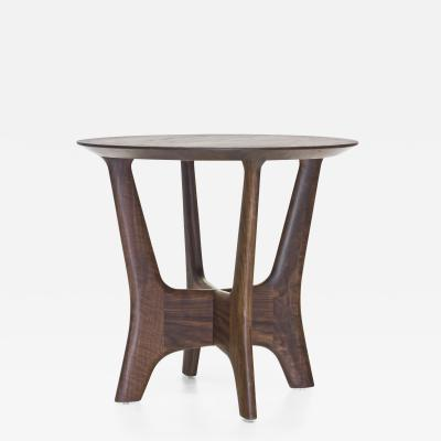 Wooda Str cka End Table in Walnut designed for Wooda by Mackenzie Smith Geggie