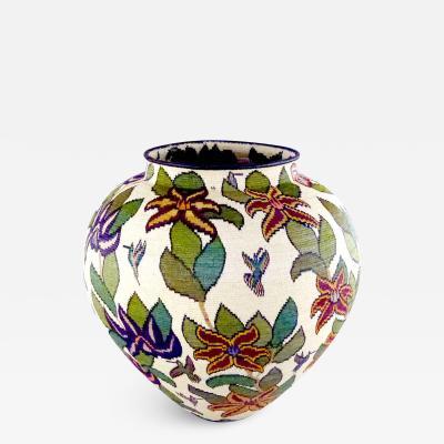 Wounaan Weaver Brisaiditas Rich Floral Wounaan Basket