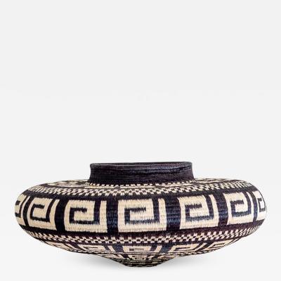 Wounaan Weaver Low Wide Keys and Chevron Wounaan Basket