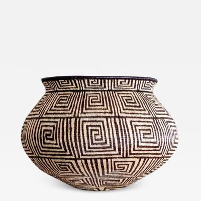 Wounaan Weaver Thin Greek Keys Motif Wounaan Basket
