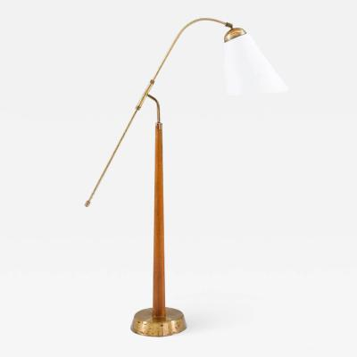 Ystad Metall Midcentury Floor Lamp by Ystad Metall 1940s Sweden