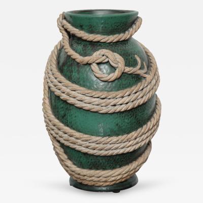 Zaccagnini Studio Built Surrealist Rope Vase by Zaccagnini