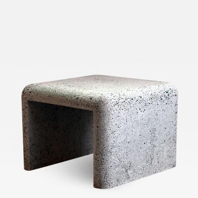 Zachary A Design 24 Cascade Side Table in Malachite Lighweight Terrazzo