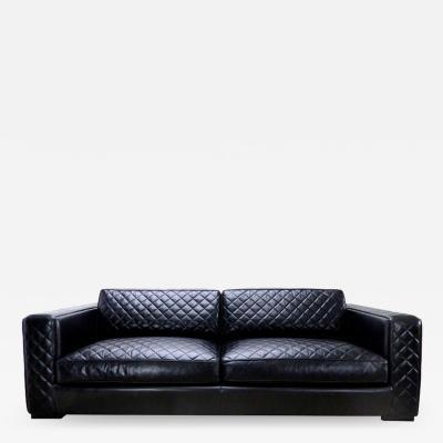 Zanaboni Embroidered Leather Sofa from Zanaboni Italy