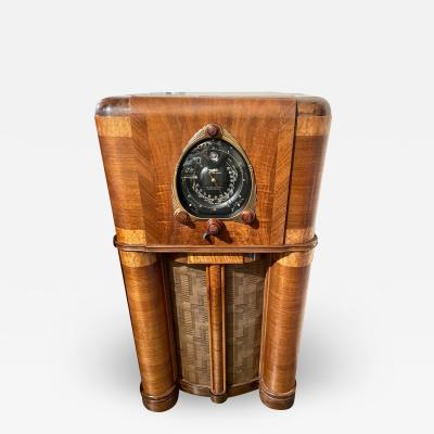 Zenith Electronics 1938 Zenith Model 12S265 Restored Bluetooth Radio Art Deco