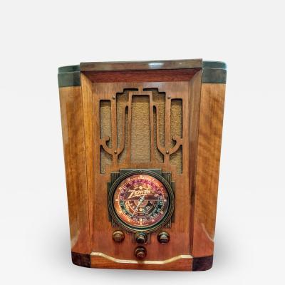 Zenith Electronics Zenith 7 S 28 Tombstone Restored Bluetooth Radio 1936